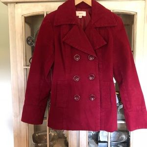Ladies Red peacoat size small